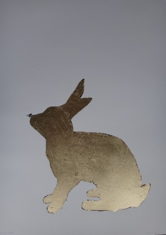 Little Peta Rabbit Gold leaf