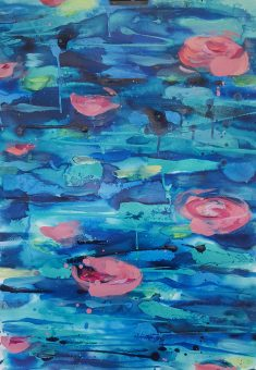 Waterblooms on paper 1