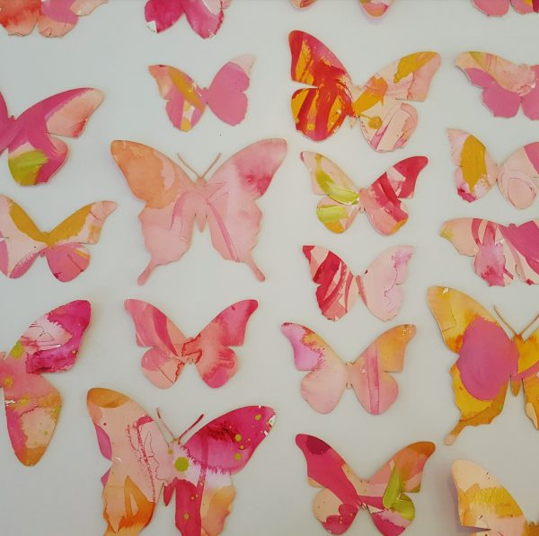 details of pink Butterfly