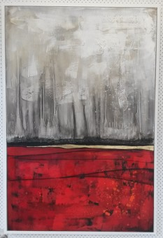 large painting red