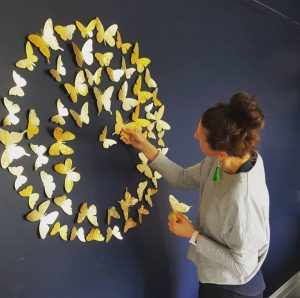 gold butterfly install image