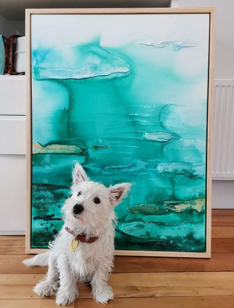 dog and art